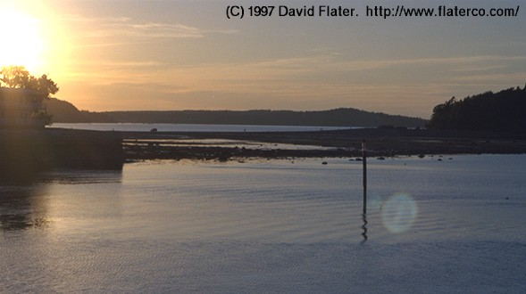 Sunset over the bar, Bar Harbor, Maine, 1997-06-24