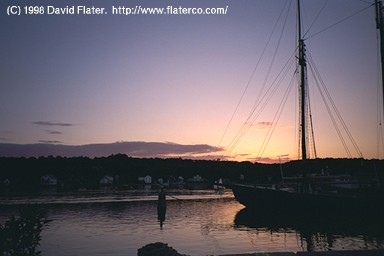 Sunset over L.A. Dunton, Mystic, Connecticut, 1998-06-06