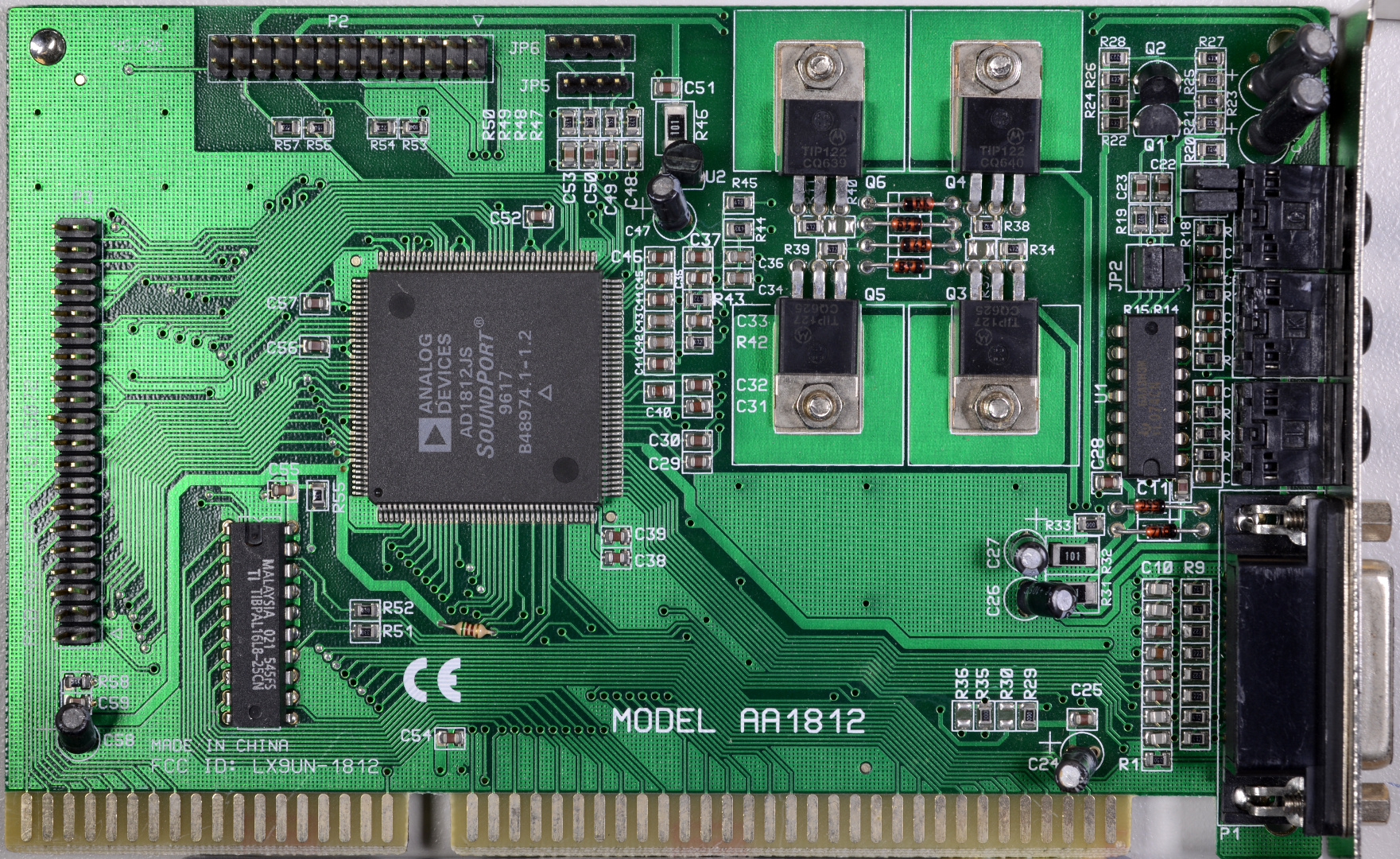 Pc Audio For Luddites Pci Sound Card 4 Channel With Game Port Analog Devices Ad1812js Soundport