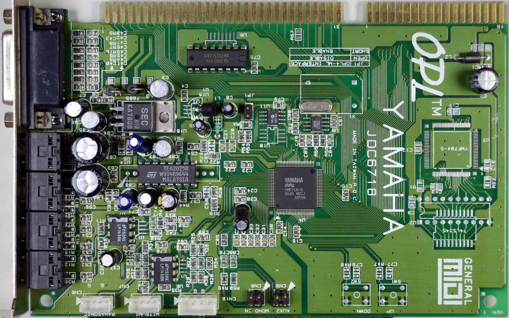 Pc Audio For Luddites Pci Sound Card 4 Channel With Game Port Yamaha Opl3 Sa3 Pnp