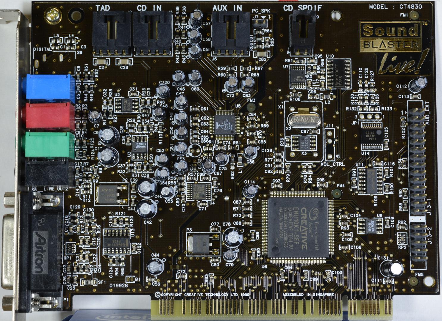 CT4830 Sound Blaster Live Value OEM EMU10K1 SEF