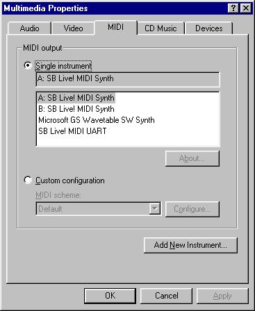 Creative emu10k1 sb live audio processor pci